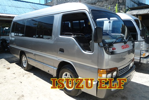 isuzu elf for full day tour or day charter for max 10hrs with driver & petrol