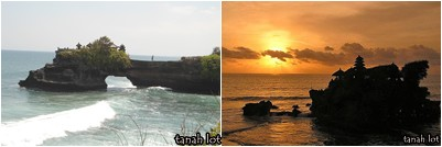 tanah lot temple for sunset